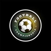 fútbol fútbol vector logo circular. tipografía profesional moderna deporte estilo retro vector emblema y plantilla de diseño de logotipo. logo colorido de futbol