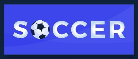 Vector typography word Soccer Football logo. Sport logotype with equipment for print design vector illustration