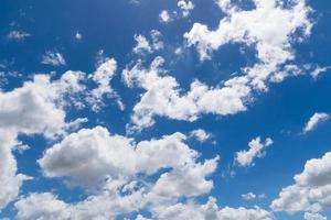 Sky with white clouds photo