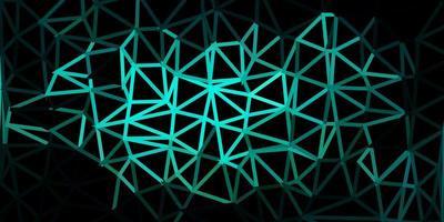 Dark blue, green vector polygonal backdrop.