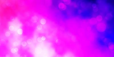 Light Purple, Pink vector backdrop with dots.
