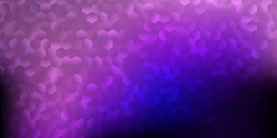 Dark purple, pink vector texture with memphis shapes.