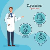 Coronavirus prevention banner with doctor