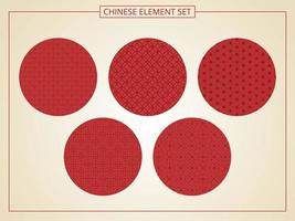 Chinese seamless pattern in 5 styles vector
