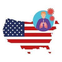 mapa de estados unidos y campaña de prevención del coronavirus