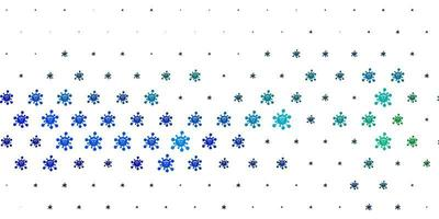Light Blue, Green vector backdrop with virus symbols.
