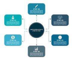 Modern infographic work step design