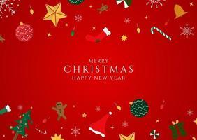 feliz año nuevo navidad fondo rojo