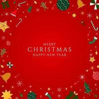 Christmas banner radial modern frame