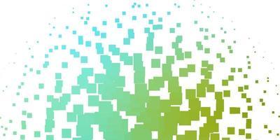 patrón de vector azul claro, verde en estilo cuadrado.