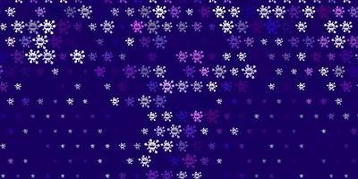 Plantilla de vector púrpura claro con signos de gripe