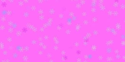 Light pink, blue vector natural artwork with flowers.