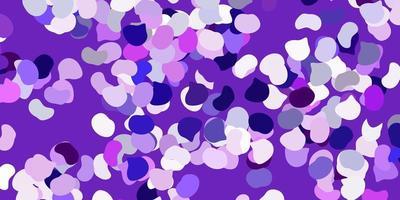telón de fondo de vector púrpura claro con formas caóticas.