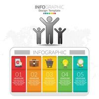 Infographic concept illustration of Seo infographics with Business layout template.