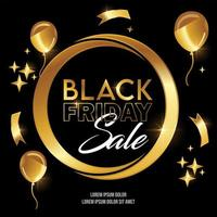 Golden Black Friday Sale Vector Sign