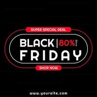 Sale banner black friday design rounded line design