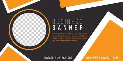business banner template simple geometric style vector