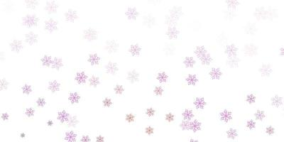 Light purple, pink vector doodle template with flowers.