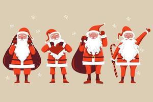 Santa Claus characters set vector