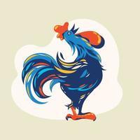 Beautiful Rooster Cartoon vector