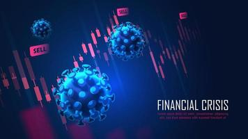 Global Financial crisis from virus pandemic concept