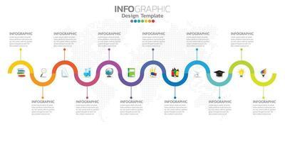 infografías para el concepto de negocio con iconos y opciones o pasos. vector