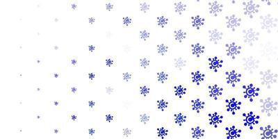 patrón de vector púrpura claro con elementos de coronavirus