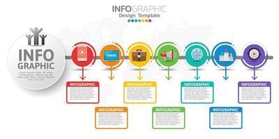 Banner de marketing digital en línea con iconos para contenidos comerciales.