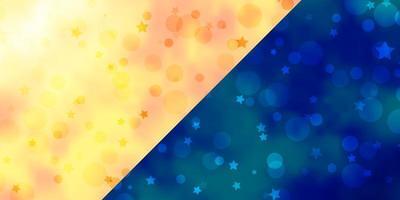 diseño vectorial con círculos, estrellas. vector