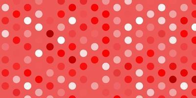 Fondo de vector rojo claro con burbujas.