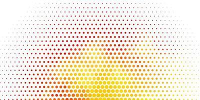 Light Orange vector pattern with spheres.