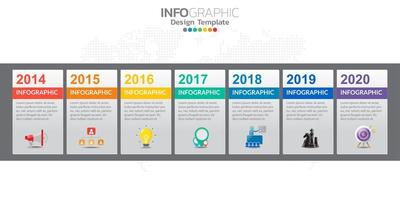 Infographics for business concept with icons and options or steps. vector