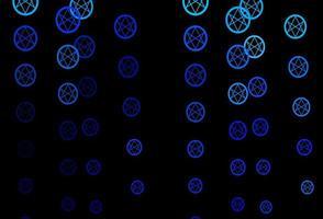 patrón de vector azul oscuro con elementos mágicos.