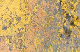 Yellow rusted grunge texture photo