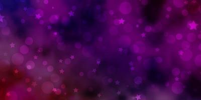 plantilla de vector multicolor claro con círculos, estrellas.