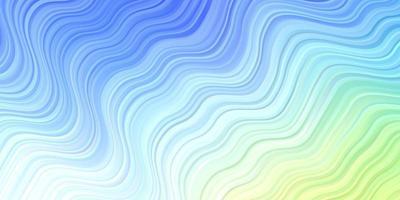 patrón de vector multicolor claro con líneas torcidas.