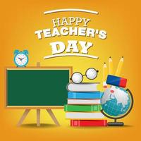 plantilla de feliz día del maestro para el concepto de cartel o banner. vector