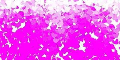 plantilla de vector rosa claro con formas abstractas.
