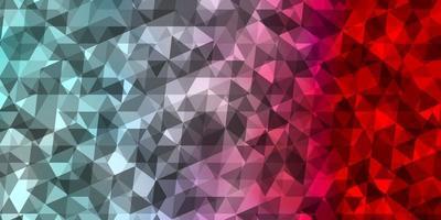textura de vector azul claro, rojo con estilo triangular.