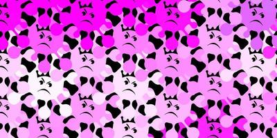 Dark purple vector texture with disease symbols