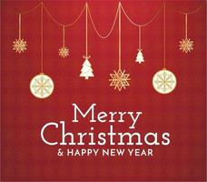 Abstract Merry Christmas vector