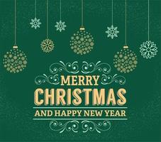 Design Abstract Merry Christmas vector