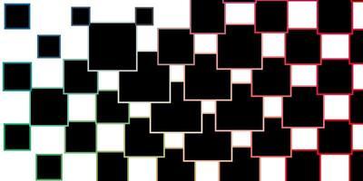 patrón de vector verde claro, rojo en estilo cuadrado.
