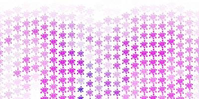 Light Purple vector pattern with coronavirus elements.