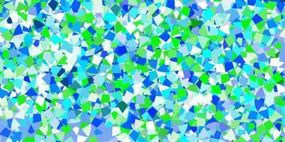 textura de vector azul claro con estilo triangular.