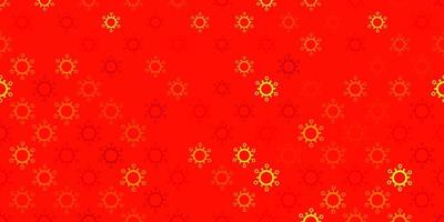 Dark red vector background with covid-19 symbols