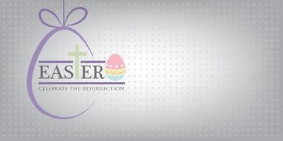 Happy Easter greeting card with space for text