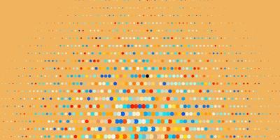 Dark Blue, Yellow vector backdrop with dots.