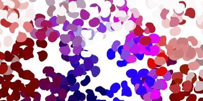 patrón de vector rosa claro, rojo con formas abstractas.