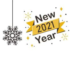 abstract 2021 happy new year vector
